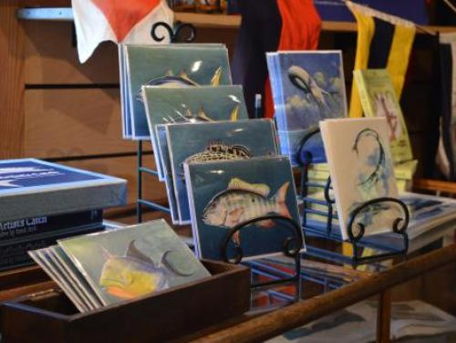Frank Stick artwork at the Museum Store at Roanoke Island Festival Park
