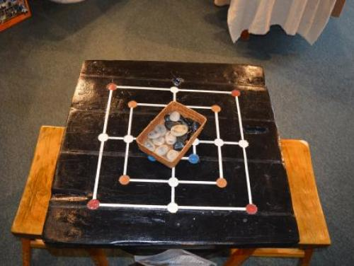16th century game board at The Museum Store at Roanoke Island Festival Park