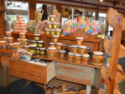Snack and candy display at the Museum Store at Roanoke Island Festival Park