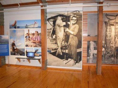 Outer Banks fishing heritage exhibit in the Adventure Museum at Roanoke Island Festival Park