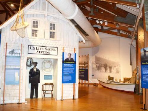 U.S. Lifesaving Station exhibit in the Adventure Museum at Roanoke Island Festival Park