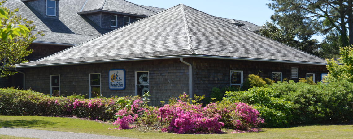 Exterior view of the Museum Store at Roanoke Island Festival Park