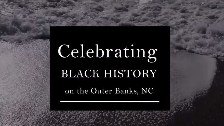 Black History Month on the Outer Banks graphic