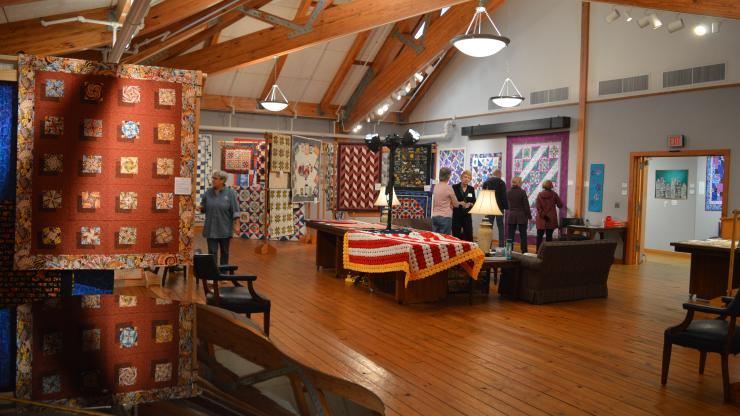 Quilt displays at the 2020 Outer Banks Community Quilt Show