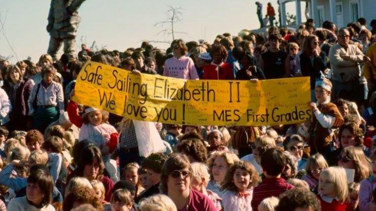 Elementary school at first launch of the Elizabeth II