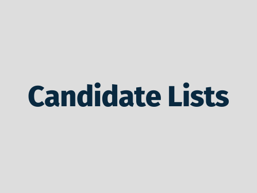 """""""Candidate Lists"""""""