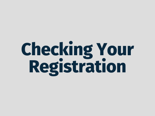 """checking your registration"""
