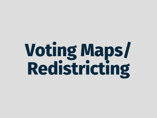 """Voting Maps/Redistricting"""