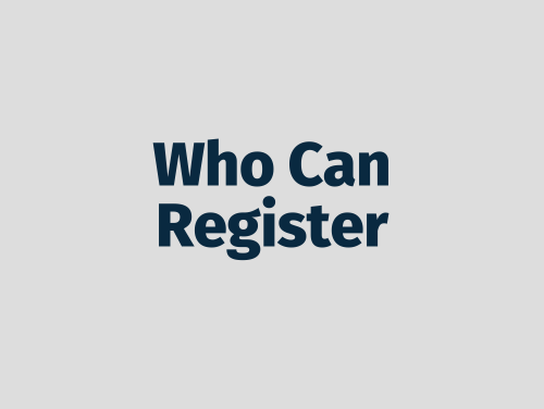 """Who Can Register"""