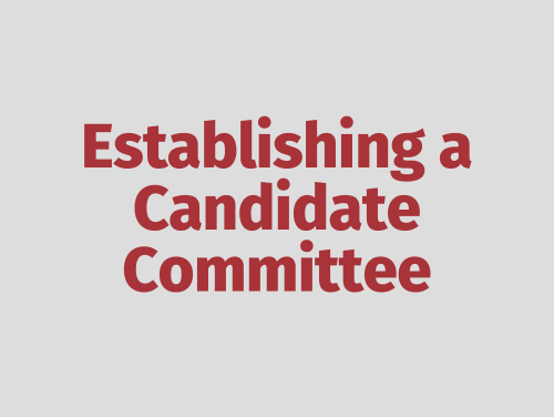 """Establishing a Candidate Committee"""
