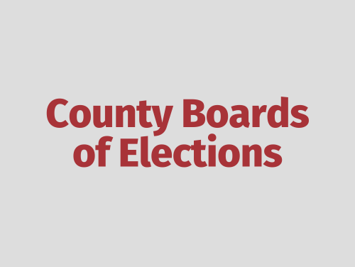 """""""County Boards of Elections"""""""