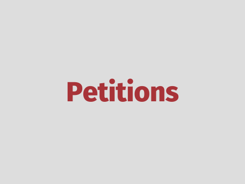 """Petitions"""