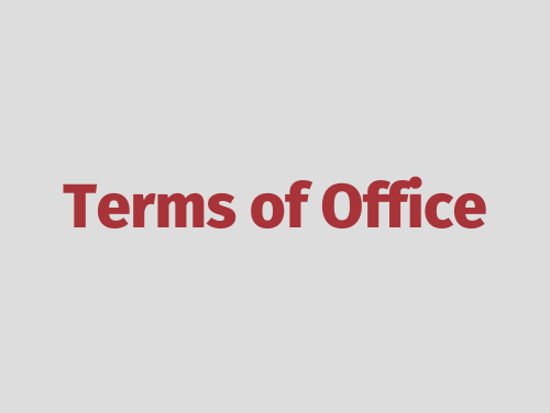 """""""Terms of Office"""""""