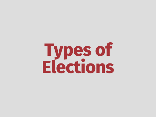 """Types of Elections"""