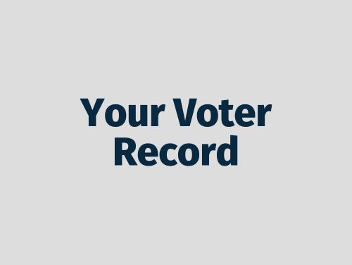"""Your Voter Record"""