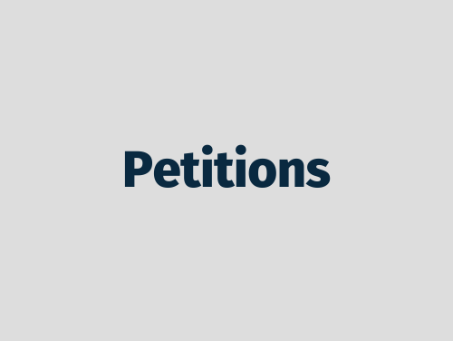 """""""Petitions"""""""
