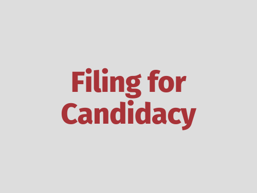 """""""Filing for Candidacy"""""""