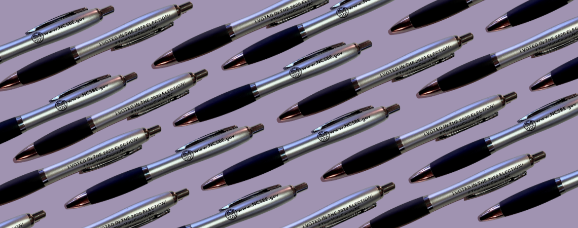 """""""I voted"""" pens from the 2020 election"""