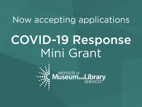Now accepting applications COVID-19 Response Mini-Grant on teal background