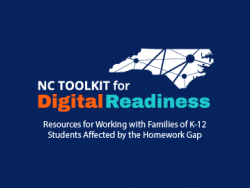 Graphic Image with state of NC, NC Toolkit for Digital Readiness