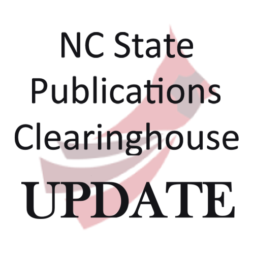 NC State Publications Clearinghouse Update