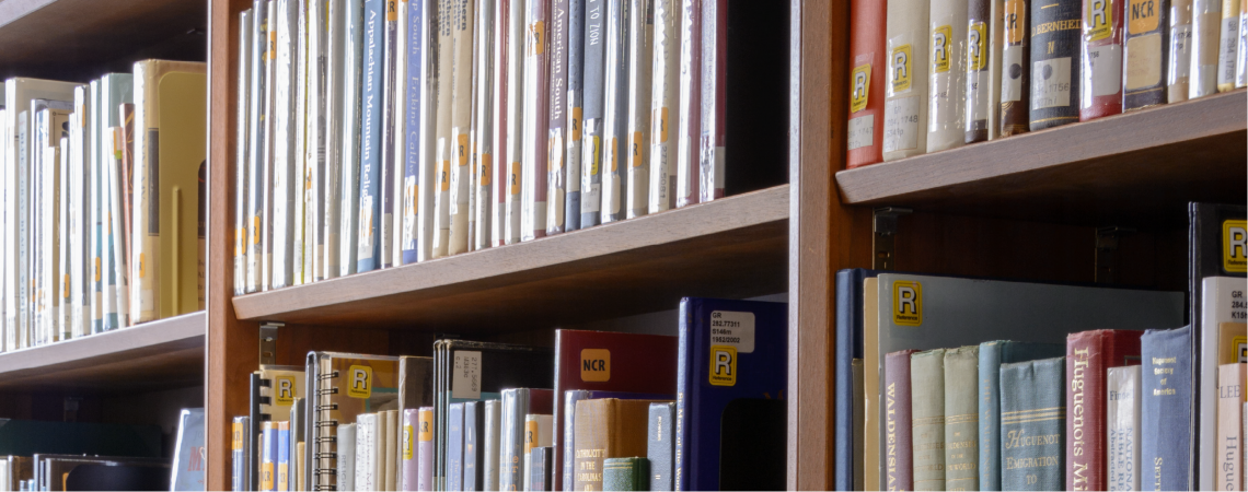 image of Government and Heritage Library books on shelves