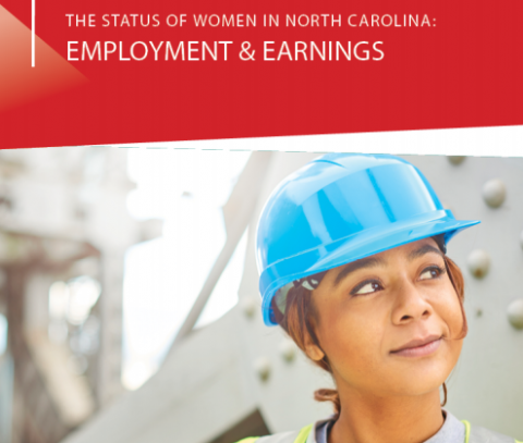 featuring a picture of a female construction worker wearing a hard hat