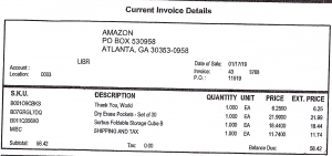 Example Amazon invoice that does not break out taxable amounts from shipping totals call the Final Detail for Order