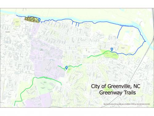Map of Greenville Way