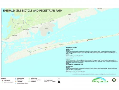 Map of the Emerald Isle Bicycle and Pedestrian Path