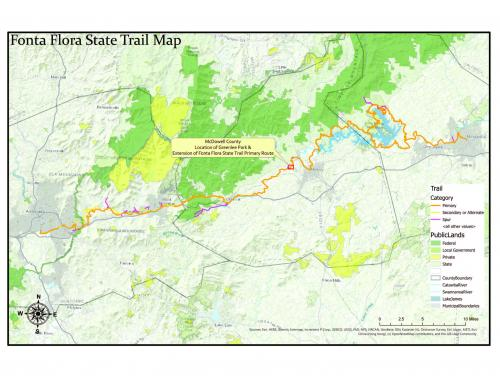 Map of Greenlee Park in McDowell County