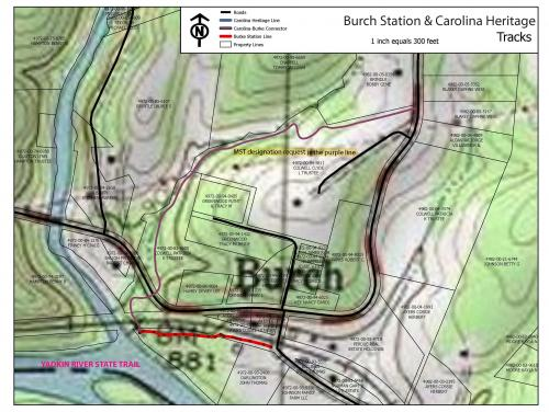 Map of Burch Station trails