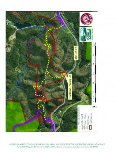 Map of Copper Ridge Trail in McDowell County