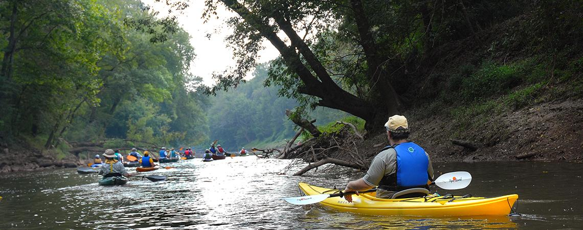 The Deep River State Trail is planned as both a paddling and a hiking trail.